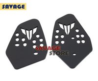 Wholesale For YAMAHA MT07 MT FZ Black Motorcycle Accessories CNC Aluminum Foot Peg Heel Plates Guard Protector