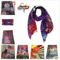 Wholesale Newest women s scarves wraps famous spain brands Desigual scarf fashion shawls scarf Size cm Free deliver colors