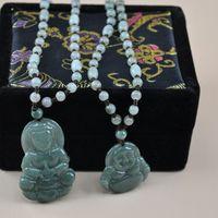 Pendant Necklaces pendant natural jade - Myanmar jade Guanyin Buddha jade pendant necklace natural jade Guanyin Buddha