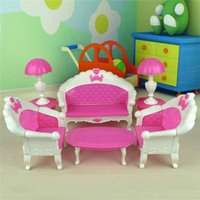 baby doll high chair - Brand Baby toys Doll Sofa Chair Couch Desk Lamp Furniture Set Disassembled high quality