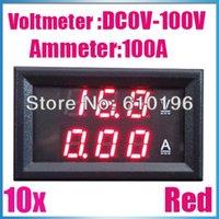 amp electric car - Electric Car Motorcycle DC Red V100A Amp Volt Current Voltage Voltmeter Ammeter Meter