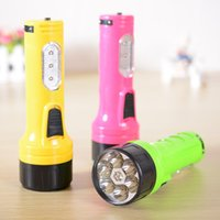 plastic flashlight - E2421 rechargeable flashlight large outdoor home essential glare six lamp LED flashlight plastic flashlight