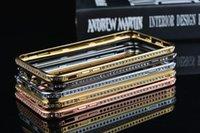 Wholesale CRYSTAL RHINESTONE DIAMOND BLING METAL BUMPER CASE COVER F iPhone plus
