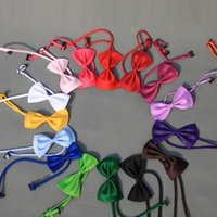 Wholesale Dog Bow Tie Cat Collars Supplies Pet adjustable tie Dog Supplies Lovely Gift
