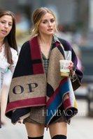 Wholesale Original Brand Blanket Coat Scarves womens Shawls Women Poncho Olivia Palermo Burb Cape Woollen Scarf Shawls Fashion Star Shows