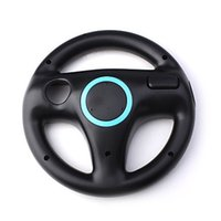 Wholesale Mario Kart Steering Racing Wheel Holder for Wii Remote Controller Gaming Controllers Joystick Compact Durable White Black OPP Bag