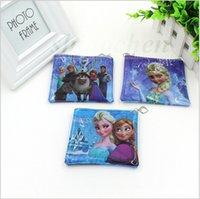 Wholesale Creative Frozen Check Coin bag Elsa Coin purse Anna Key Pouch Fashion Coin wallet pocket Princess Queen change card money bag holder A171