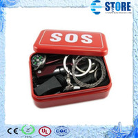 camping equipment - Outdoor Survival Tool Kit contains emergency sos suit Multi function pliers fire stick compass authentic equipment M