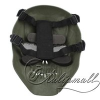 Wholesale Full Face Masks Full Face High Impact Resistant Terrifying Facepiece Skeleton Tactical Mask With Mesh Metal Eye Shield NO Good Price