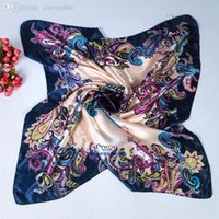 Cheap Wholesale-scarf women 2015 anchor scarf satin large square scarf 90 * 90 cm silk scarf Mixed style SD-15 Free Shipping