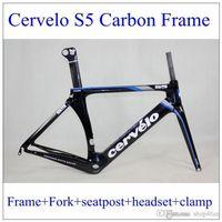 cervelo - 2015 Cervelo S5 Team Svwd Carbon bike frame frames carbon road bike frameset black blue bicycle Frame Fork Seatpost Headset Seat clamp
