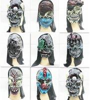 Halloween masks clown - Halloween Hallowmas Festival Demon Horrible Skull Brains Party Mask Latex Clown Wry Face Terror Masquerade Masks Children Adult K5136
