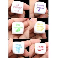 Wholesale New Funny Home Dice Couples Families Housework Distribution Dice Fun Game Nice Play Gift order lt no track