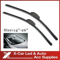 Wholesale 2pcs Universal Car Wiper Blades Soft Silicone Rubber WindShield Wiper Blade Wiper Arm Any size choice Inch