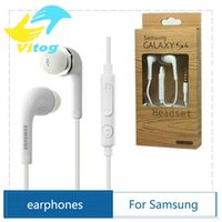 Wholesale High quality with logo In Ear Stereo s4 Earphone mm Headphones Headset with Mic and Remote for Samsung Galaxy S4 Note