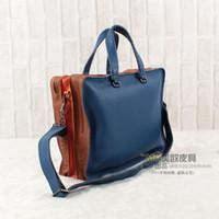 sconto valore eccellente vera pelle tessere borsa shoulderbag sacchetto degli uomini di sacchetto B Multi colore