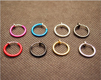 bell earring backs - Invisible Ear Clip Body jewelry Piercings Nose Hoop Nose Rings Navel Bell Button Ring Fake Earrings Spring Ear Clip on Mix colors choose