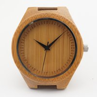 bamboo quartz - Newest Classic Bamboo Wooden Watch japanese miyota movement casual wristwatches genuine leather bamboo wood watches for men women