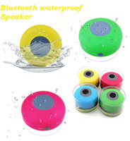 Wholesale Portable Wireless Mini Waterproof Bluetooth speaker Shower Car Handsfree Receive Call Music Suction Phone Mic PAc Good gift