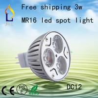 Wholesale V W MR16 White LED Light Led Lamp Bulb Spotlight