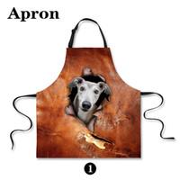 bamboo origin - Origin design anti oil kitchen chef apron for women men cotton joke cooking aprons vintage brown cute animal dog printing apron