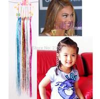 Wholesale 2015 New Children Bling Bling wigs Hair Extension Baby kids Metallic Lurex Hair Clip Hairpin head wear accessories JJAL H173