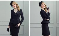 Cheap Small 2015 ladies dress suit suits the European and American high-end business attire women's black dress suit