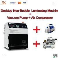 Wholesale Free ship perfect combination oca lamination machine for iphone samsung lcd No Need Remove Bubble Vaccum pump Air compressor