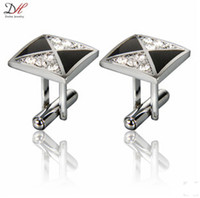 Wholesale Fashion Diamond Men Shirt Metal Cufflink Brand Accessories High Quality For Luxury Men Gemelos Abotoadura Daihe