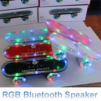 aes usb - RGB Light HiFi Speakers Mini Electric Scooter Bluetooth Speakers Support TF Card Wireless Speaker Audio Portable USB Outdoor Music Player