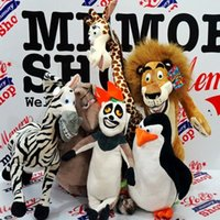 giraffe gifts - Madagascar plush toys lion zebra giraffe monkey Penguin hippo children gifts