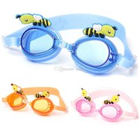 Wholesale Children Swimming Goggles Kids swim Glasses Lovely Bees style Waterproof anti fog colors DHL fast shipping