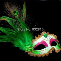 game dora - Beautiful Peacock Feather Mask Venetian Mask in Dora Games Make Up Accessories for Party LP062