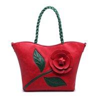 alice handbag - Alice Vintage Rose flowers large three dimensional flowers woven bags new winter portable handbag shoulder Messenger bag