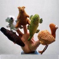 australian kids fashion - Retail Velvet Australian Animals Style Finger Puppets Set of Puppets Stuffed Dolls Hand Puppets For Kids Talking Props F