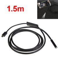 borescope - 1 m feet LEDs mm P Endoscope Waterproof Snake Borescope Micro USB Inspection Video Camera for Android PC HLV_013