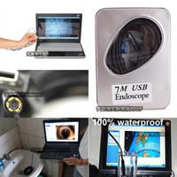 Wholesale 2M M M M USB Waterproof Endoscope Borescope LED MM MM Snake Inspection Video Camera