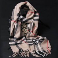 Wholesale Real pure cashmere scarf England plaid camel pink gray soft thick long lady gift women shawl High quality pashmina HOTsellling