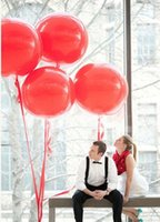 big bubble - 10 pieces inch Circle Big Balloon Latex high quality Balloons Red