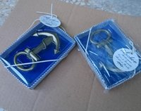 anchor party favors - wedding gifts for guest Bronze Anchor Shaped Chrome Wine Bottle Opener for Event Party Favors