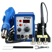 Wholesale US SMD Rework Soldering Station in welding Station hot Air Iron AD