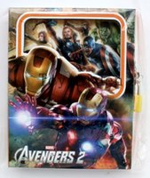 Wholesale 5pcs color personality avengers alliance lock Children Combination Notebook Diary Stationery Gifts