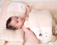 Wholesale Lovely Cute Cartoon Pigs Bears Cotton Towels Pet Pillow Softline Baby Pillow Newborn Cotton Solidify Pillow Cushion EMS Free J3031