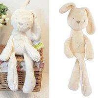achat en gros de plush rabbit toy-S 2015 Lapin Bébé Enfant Fille Cadeau lapin Dormir peluche peluche Poupées Jouets Bed Decorat