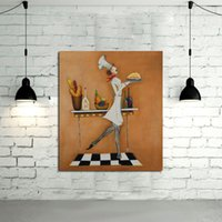 abstract designs pictures - New Design Handpainted Oil Paintings on Canvas Art Pictures Lovely Cook Wall Stickers for Home Decor