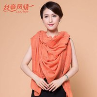 Wholesale The New Casual Plaid Long Oversized Scarves Rayon Scarves Warm Shawl Colors