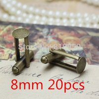 Wholesale Cufflinks Accessories mm Brass Antique Bronze French Cufflinks Back Cameo cabochons base setting findings