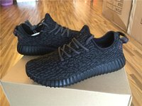 Wholesale YEEZY BOOST IS pirate black IN BLACK Running Shoes Trainers Shoes With Box Sports Shoes Kanye West Yeezy Dropshipping Accepted