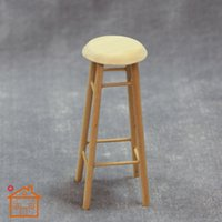 Wholesale 1 Dollhouse mini Stool Bar station scene ornaments Decoration Accessories mini bar sets the scene stool stool model pocket