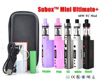 Wholesale 5 colors Kangertech Subox mini Ultimate starter kit zipper kit with W TC Mod battery ohm SSOCC Coil Subtank Mini v2